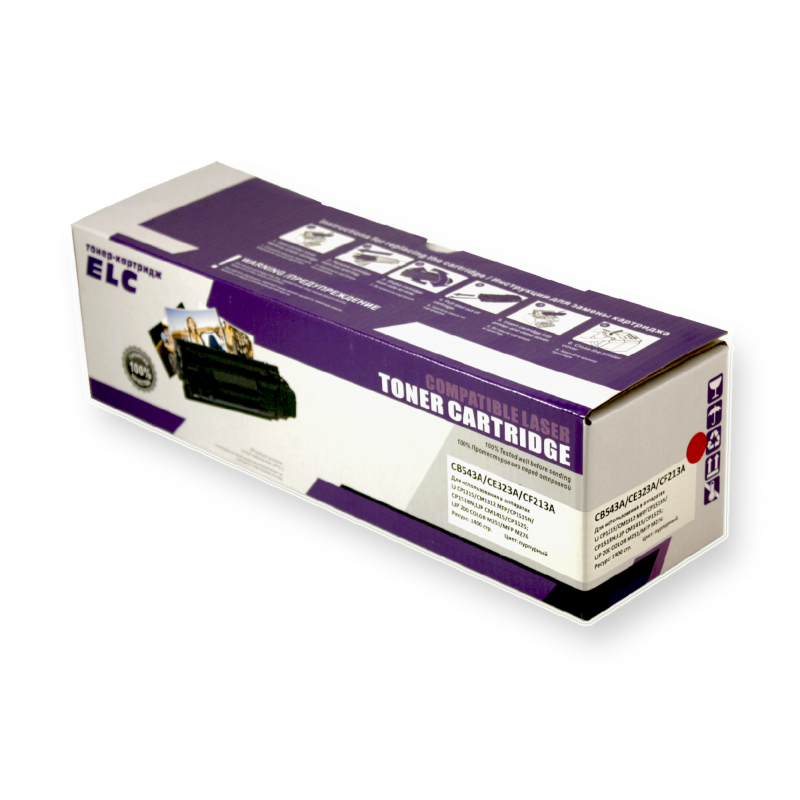 Картридж CB543A/CE323A/CF213A для HP CLJ CM1312/CP1210/CM1415 пурпурный ELC (1400 стр.)